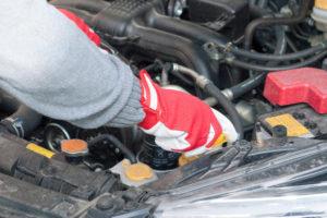 Mechanic Working on Enginer