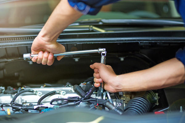 Mechanic Performing Regular Service